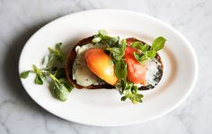 Peach and Blue Cheese Toasts Recipe - Bon Appétit