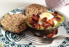 Avocado Bacon Baked Eggs