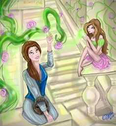 Flora and Belle Winx Club and Disney princesses