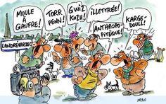 Quand les bretons se disputent, quel est le mot suprême que l'on dit quand on veut toucher son interlocuteur : un mot breton ou un mot français ?