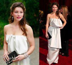Jessica Biel's $13K PRADA Oscar's Red Carpet Corset Gown COUTURE Size 40 IT US #PRADA #RedCarpetGown #Formal