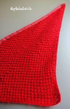 Tuto tricot, comment tricoter un châle au point d astrakan (point boule 8661fec67e5