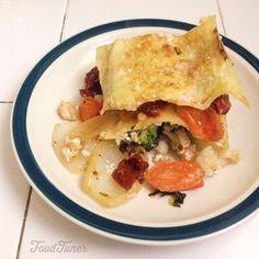 Food-Tuner Cauliflower and goat cheese lasagna