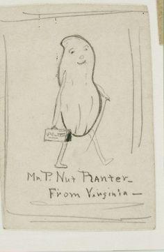 Original sketches drawn by Antonio Gentile, 1916. Gift of Robert Slade.