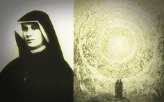 """St. Faustina was één van de grootste mystici van de 20e eeuw, en misschien van de geschiedenis van de kerk in het algemeen. Eerder hebben we gesproken over haar ontnuchterende visioenen van hel en vagevuur. Maar wist je dat ze had ook ongelooflijke visioenen van de hemel? """"Vandaag was ik in de hemel, in de geest,"""" schreef ze in haar dagboek op 27 November 1936, """"en ik zag haar ondenkbaar schoonheden en het geluk dat ons na dood wacht."""""""