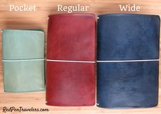 *Solid Color Leather Traveler's Notebook