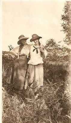 Vintage early 1900s  Photo Photograph Woman smiling holding hands. $18.00, via Etsy.
