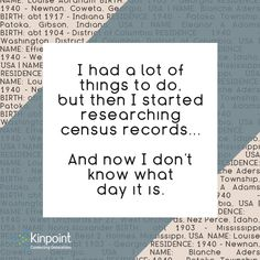 My life as a genealogist.