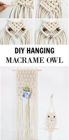 macrame plant hanger+macrame+macrame wall hanging+macrame patterns+macrame projects+macrame diy+macrame knots+macrame plant hanger diy+TWOME I Macrame & Natural Dyer Maker & Educator+MangoAndMore macrame studio Macrame Wall Hanging Patterns, Macrame Plant Hangers, Macrame Patterns, Owl Patterns, Macrame Owl, Macrame Knots, Owl Crafts, Macrame Design, Macrame Projects