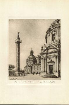 Stonebreaker Fine Art Gallery - Lithograph: Roma - La Colonna Traiana, $35.00 (http://www.aliciajstonebreakergallery.com/lithograph-roma-la-colonna-traiana/)