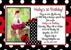 Ladybug birthday invitation ladybug 1st birthday party invitations ladybug birthday invitation ladybug 1st birthday party invitations printable birthday party invitations birthdays and ladybug 1st birthdays filmwisefo Choice Image