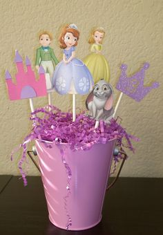 Princess Sofia Centerpiece, Sofia The First Centerpiece, Sophia The First, Birthday Centerpiece on Etsy, $22.00