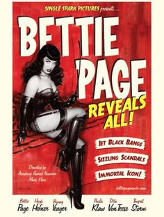 """January 3 @ Texas Theatre - Premiere screening of """"Bettie Page Reveals All"""" plus pre-screening live burlesque show and post-screening DJ set by Trigger Mortis"""