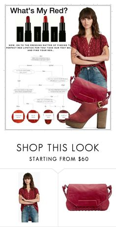 """""""Subtle Red"""" by queenofsienna ❤ liked on Polyvore featuring beauty, Lucky Brand, Liebeskind and REDLIP"""