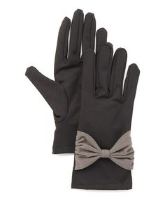 This Black & Gray Mid-Bow Gloves is perfect! #zulilyfinds