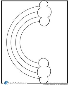 Rainbow Coloring Pages to Print   Free Printable rainbow 2 coloring page - from ProjectsforPreschoolers ...