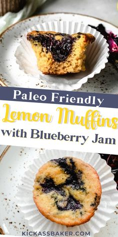 Currently celebrating all the flavors Springtime brings to the northeast. Starting with these Lemon Muffins Swirled with Blueberry Jam. These muffins are made using only paleo-friendly ingredients such as coconut flour and coconut sugar, but coconut flavor certainly does not dominate here. Just the tangy sweetness of the blueberry jam and the bright lemon. It's all you could ever want in a healthy, satisying muffin recipe! Baker Recipes, Paleo Recipes Easy, Muffin Recipes, Diet Recipes, Healthy Make Ahead Breakfast, Delicious Breakfast Recipes, Paleo Breakfast, Homemade Waffles, Homemade Pancakes