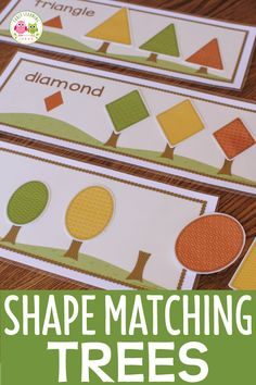 Fall Trees Shape and Size Sorting Activity: Autumn Tree and Leaves Printable fall leaves shape match Creative Curriculum Preschool, Fall Preschool Activities, Preschool Fall Theme, Shape Activities, Sorting Activities, Lesson Plans For Toddlers, Preschool Lesson Plans, Teaching Shapes, Tree Study