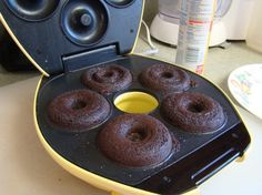 brownies-in-doughnut-machine-ready-to-come-out