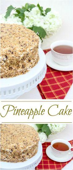 Pineapple Cake. ValentinasCorner.com