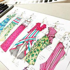 27 Ideas Fashion Design Inspiration Illustration Sketchbook Ideas For 2019 Fashion Sketchbook, Fashion Illustration Sketches, Illustration Mode, Fashion Sketches, Sketchbook Ideas, Drawing Sketches, Drawing Art, Pink Drawing, Sketchbook Drawings