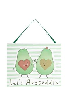 Primark - Avocado Slogan Hanging Plaque