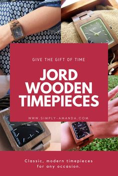 Give the gift of JORD this Father's Day! JORD creates beautiful wooden timepieces for any occasion. Plus enter my giveaway to win $100 towards a JORD watch! All entries will receive a $25 gift code just for entering! Will you be entering?!