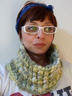 Golona de tricô feita em 100% lã argentina
