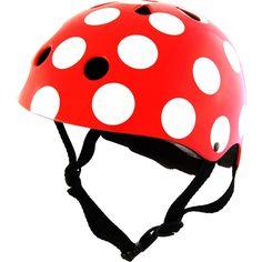 kiddimoto 2kmh009s - Design Sport Helm Dotty, Gr. S für Kopfumfang 48-53 cm, 2-5 Jahre, pünktchen rot: Amazon.de: Sport & Freizeit