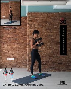 Fitness Workouts, Gym Workout Videos, Gym Workout For Beginners, Fitness Workout For Women, Workout Fun, Fun Workouts, Full Body Dumbbell Workout, Physical Fitness, Yoga