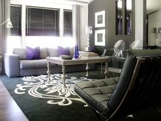 1000 images about my dream living room on pinterest for Purple black and silver living room ideas
