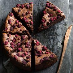 Recipe: Flour and Stone's chocolate, raspberry and buttermilk cake – Vogue Australia Cake Recipes, Dessert Recipes, Loaf Recipes, Dessert Ideas, Flour Bakery, Springform Cake Tin, Vogue Living, Just Bake, New Cookbooks