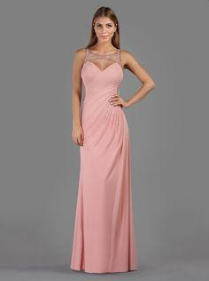 Βραδινό μακρύ φόρεμα με κεντημένη πλάτη - Βραδυνά Φορέματα
