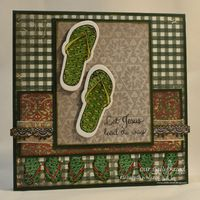 ODBDSLC212 - Week 1   Stamps - Our Daily Bread Designs Walk with Jesus, Crocheted Border, ODBD Custom Flip Flop Dies, ODBD Custom Crocheted Border Die, ODBD Christmas Paper Collection 2013