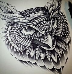 Tattoo owl.