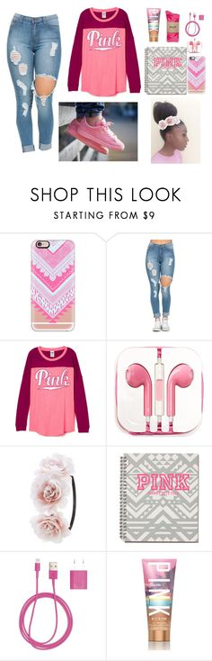 """PINK"" by jadasmith1 ❤ liked on Polyvore featuring Casetify, PhunkeeTree, Charlotte Russe, Victoria's Secret, HUF, women's clothing, women's fashion, women, female and woman"
