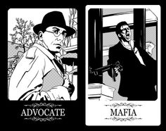 Party game cards design for Chicago MAFIA on Behance