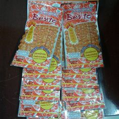 5gx12 Bento Squid  SeaFood Snack  Namprik Thai Original Flavor Party Sport Food #Bento