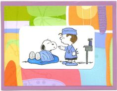 How to make Snoopys Home Made fun cute get well card
