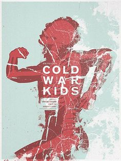 Cold War Kids gig poster by Andrio Abero