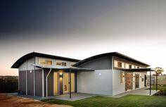nice Aussie Modular Solutions Kit Home Designs. Visit www. to find yo. Modern Prefab Homes, Modular Homes, Pre Built Homes, Australia House, South Australia, Tiny House Kits, Prefab Buildings, Green House Design, Box Houses