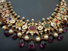 8 Different Kinds of Traditional Wedding Jewellery. India Jewelry, Temple Jewellery, Gold Jewelry, Diamond Jewellery, Gemstone Jewelry, Schmuck Design, Jewelry Patterns, Necklace Designs, Wedding Jewelry
