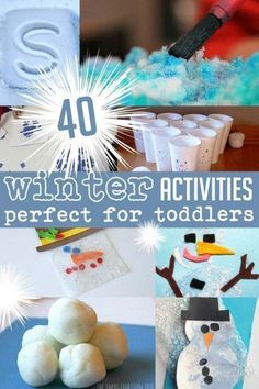 40 winter activities that are perfect for toddlers, preschoolers and older kids!