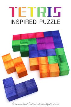 Tetris Inspired Puzzle. What a fun homemade gift this would make for kids! | Fireflies and Mud Pies