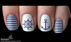 3.59AUD - Anchor Sailor Navy Nail Art Water Transfer Decal Sticker Wrap Tattoo 5 #ebay #Fashion
