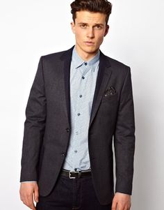 Peter Werth Blazer With Contrast Lapel