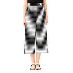 Wide-Legged Crop Pants in Stripe - Kate Spade Saturday