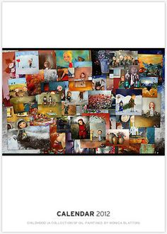 Calendar with collection of oil paintings by Monica Blatton $34.46  #art #paintings
