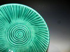 Green celedon textured bowl by MarkCampbellCeramics on Etsy