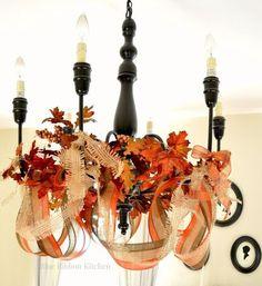 thanksgiving chandelier decor, home decor, lighting
